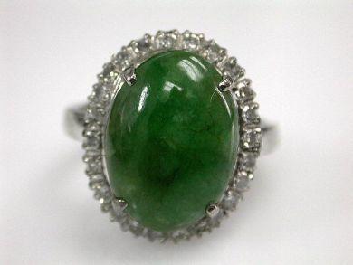 67425-April /Jade and Diamond Ring Cynthia Findlay Antiques CFA120574