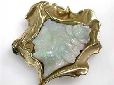 67425-April /Opal Brooch Cynthia Findlay Antiques CFA1205161