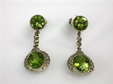 67425-April /Peridot Earrings Cynthia Findlay Antiques CFA1205128