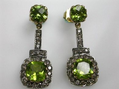 67425-April /Peridot Earrings Cynthia Findlay Antiques CFA1205160
