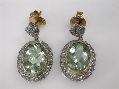 67425-April /Prasiolite Earrings Cynthia Findlay Antiques CFA1205149
