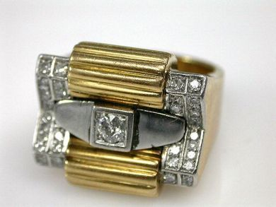 67425-April /Retro Diamond Ring Cynthia Findlay Antiques CFA1205204