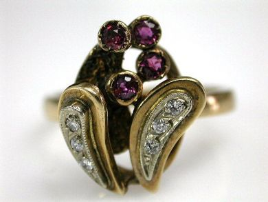 67425-April /Ruby and Diamond Ring Cynthia Findlay Antiques CFA1205229