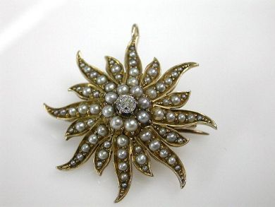 67425-April /Seed Pearl Brooch Cynthia Findlay Antiques CFA1205147