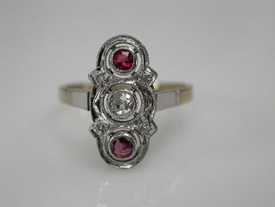 67425-April /Vintage Ruby Ring Cynthia Findlay Antiques CFA1205235 1