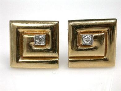 67425-April /Yellow Gold Cufflinks Cynthia Findlay Antiques CFA120438 1