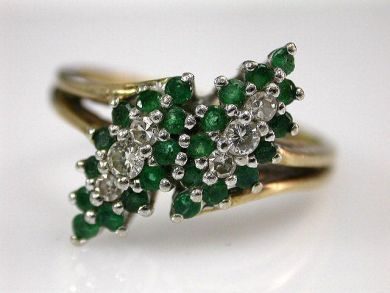67528-Emeralds/Emerald Cluster Ring Cynthia Findlay Antiques CFA120525
