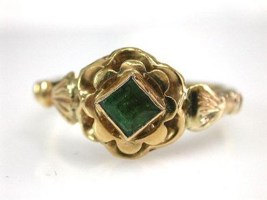 Vintage Emerald Solitaire Ring