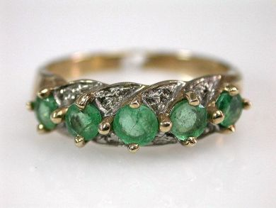Emerald Five Stone Ring