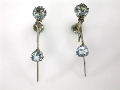 67700-June/Aquamarine Earrings Cynthia Findlay Antiques CFA1205402