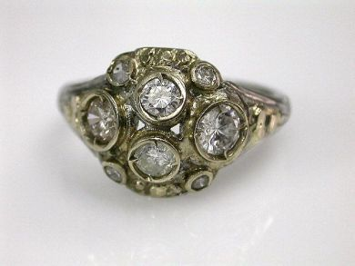 67700-June/Diamond Cluster Cynthia Findlay Antiques CFA1205364