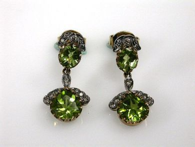 67700-June/Peridot Earrings Cynthia Findlay Antiques CFA1206165C
