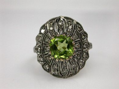 67700-June/Peridot Ring Cynthia Findlay Antiques CFA1206155C