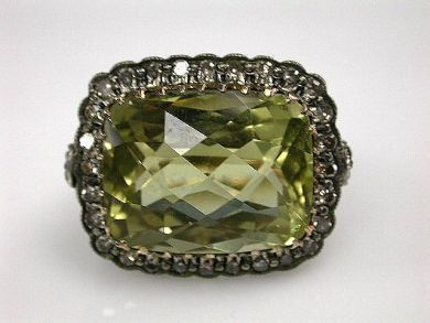 67700-June/Prasiolite Ring Cynthia Findlay Antiques CFA1206160C