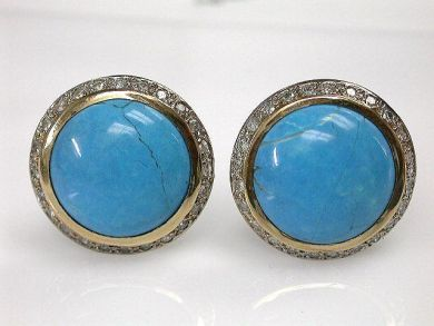 67700-June/Turqoise Earrings Cynthia Findlay Antiques CFA1205401