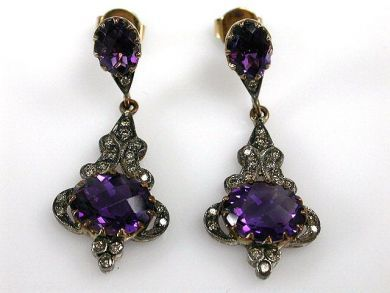 67711-June /Amethyst Earrings Cynthia Findlay Antiques CFA1205314