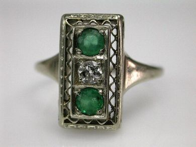 67711-June /Antique Emerald Ring Cynthia Findlay Antiques CFA1205345