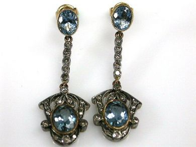 67711-June /Aquamarine Earrings Cynthia Findlay Antiques CFA1205309