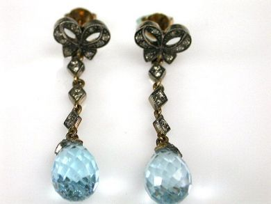 67711-June /Blue Topaz Earrings Cynthia Findlay antiques CFA1205308