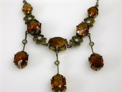 67711-June /Citrine Lavelier Cynthia Findlay Antiques CFA1205261