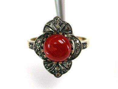 67711-June /Coral Ring Cynthia Findlay Antiques CFA1205307