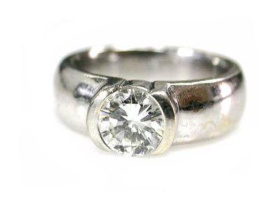 Modern Diamond Solitaire Ring