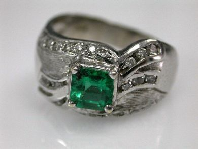 67711-June /Emerald Ring Cynthia Findlay Antiques CFA1205343