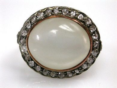 67711-June /Moonstone Ring Cynthia Findlay Antiques CFA1205328