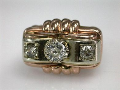 67711-June /Retro Diamond Ring Cynthia Findlay Antiques CFA1205355