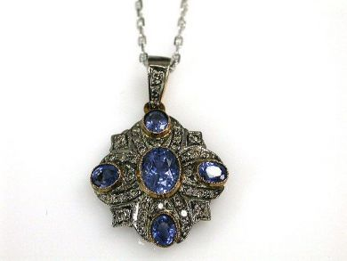 67711-June /Sapphire Pendant Cynthia Findlay Antiques CFA1205268