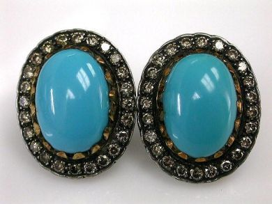 67711-June /Turquoise Earrings Cynthia Findlay Antiques CFA1205263 1