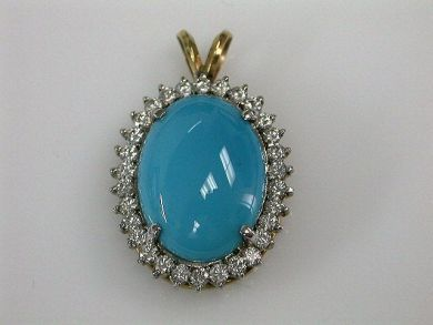 67711-June /Turquoise Pendant Cynthia Findlay Antiques CFA1205269