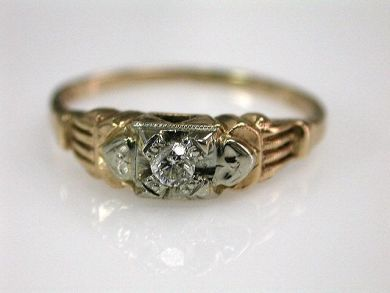 67711-June /Vintage Diamond Solitaire Cynthia Findlay Antiques CFA1205373