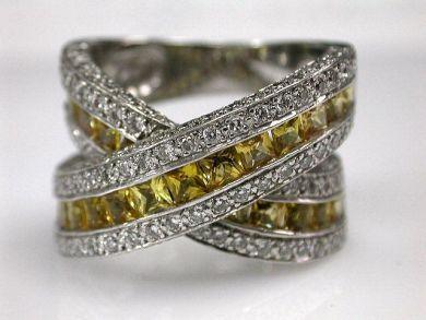 67711-June /Yellow Sapphire Ring Cynthia Findlay Antiques CFA1205258