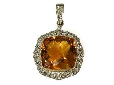 67948/Citrine Pendant Cynthia Findlay Antiques CFA1209291C