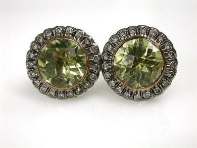 67948/Prasiolite Earrings Cynthia Findlay Antiques CFA1209288C