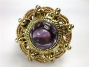 Vintage Amethyst Solitaire Ring