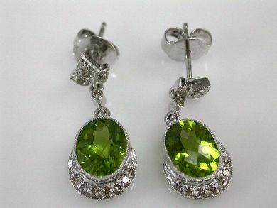 68172-July /Peridot Earrings Cynthia Findlay Antiques CFA1205126