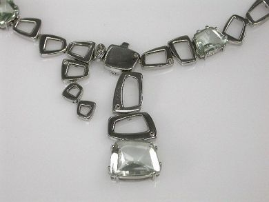 68172-July /Prasiolite Necklace Cynthia Findlay Antiques CFA120612