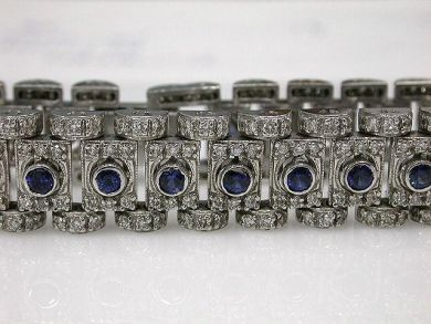 68172-July /Sapphire and Diamond Bracelet Cynthia Findlay Antiques CFA1206176