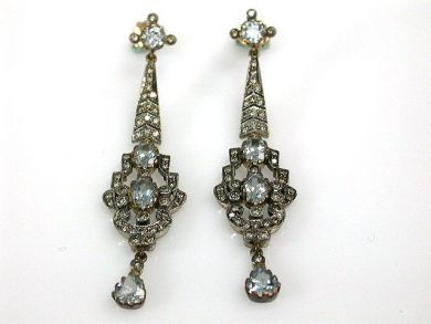 68195-July /Aquamarine Chandelier Earrings Cynthia Findlay Antiques CFA1206306C