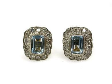 68195-July /Aquamarine Earrings Cynthia Findlay Antiques CFA1206279C