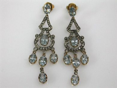 68195-July /Aquamarine Earrings Cynthia Findlay Antiques CFA1206307C