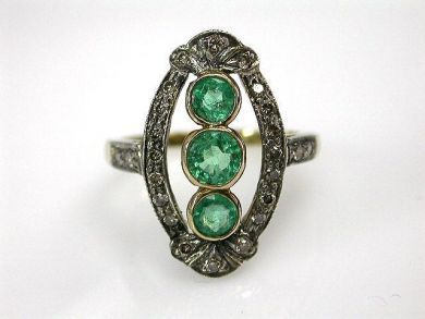68195-July /Emerald Ring Cynthia Findlay Antiques CFA1206290