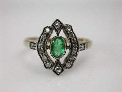 68195-July /Emerald Ring Cynthia Findlay Antiques CFA1206303C