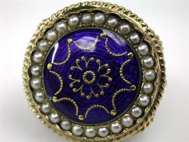 68195-July /Enamel Ring Cynthia Findlaly Antiques CFA1206260