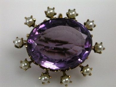 68397-July /Amethyst Brococh Cynthia Findlay Antiques CFA1207119