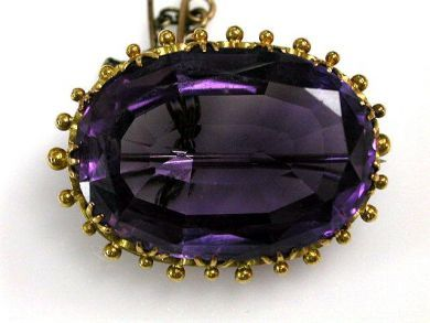68397-July /Amethyst Brooch Cynthia Findlay Antiques CFA1207120