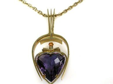 68397-July /Amethyst Pendant Cynthia Findlay Antiques CFA1207121