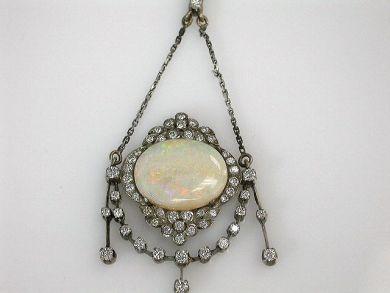 68397-July /Antique Opal Pendant Cynthia Findlay Antiques CFA120775